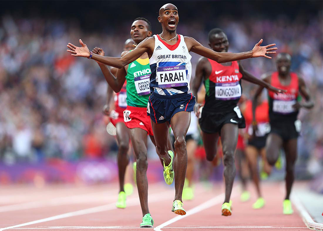 Mo Farah wins gold in men's 5000m final, London 2012 Olympics