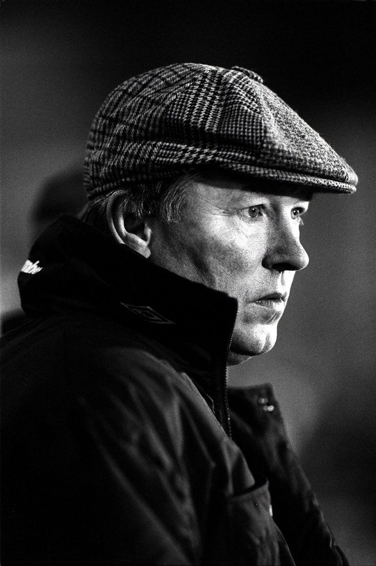 Sir Alex Ferguson manager Manchester United, Gigg Lane, Bury, November 1993