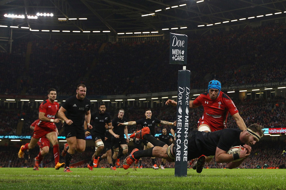 Kieran Read try, Wales v All Blacks, Cardiff, November 2014