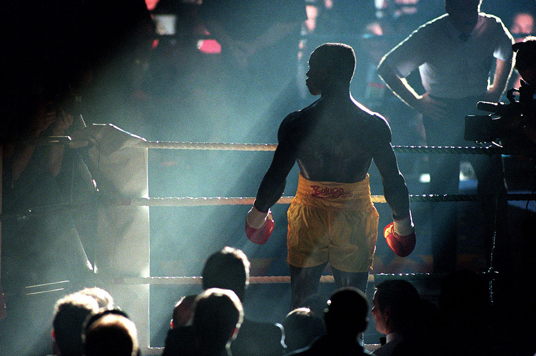 Chris Eubank enters the ring to fight Henry Wharton, Manchester, October 1994