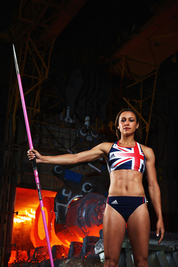 Jessica Ennis-Hill, Sheffield Forgemasters Foundry, Sheffield, June 2009