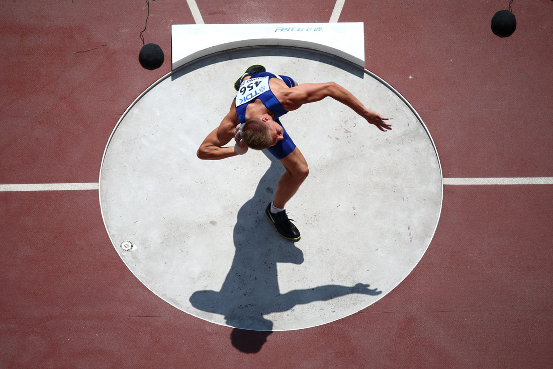 Janek Oiglane of Estonia, Shot Put, Men's Decathlon, IAAF World Championships, Beijing, August 2015