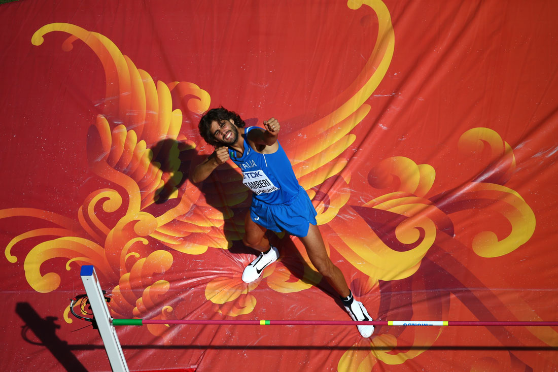 Gianmarco Tamberi of Italy, Men's High Jump, IAAF World Championships, Beijing, August 2015