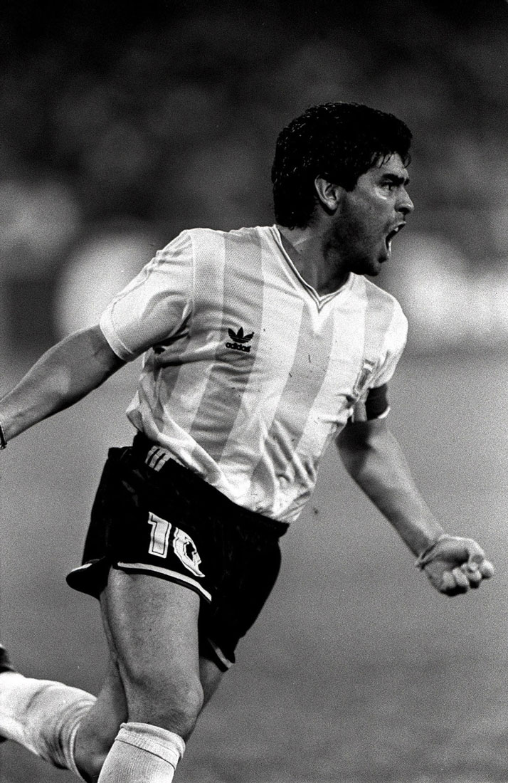 Diego Maradona, World Cup Semi-Final, Naples, Italy, July 1990