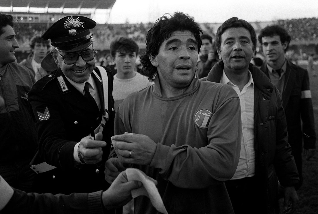Diego Maradona, Italy v Argentina International Friendly, Cagliari, Italy, December 1989
