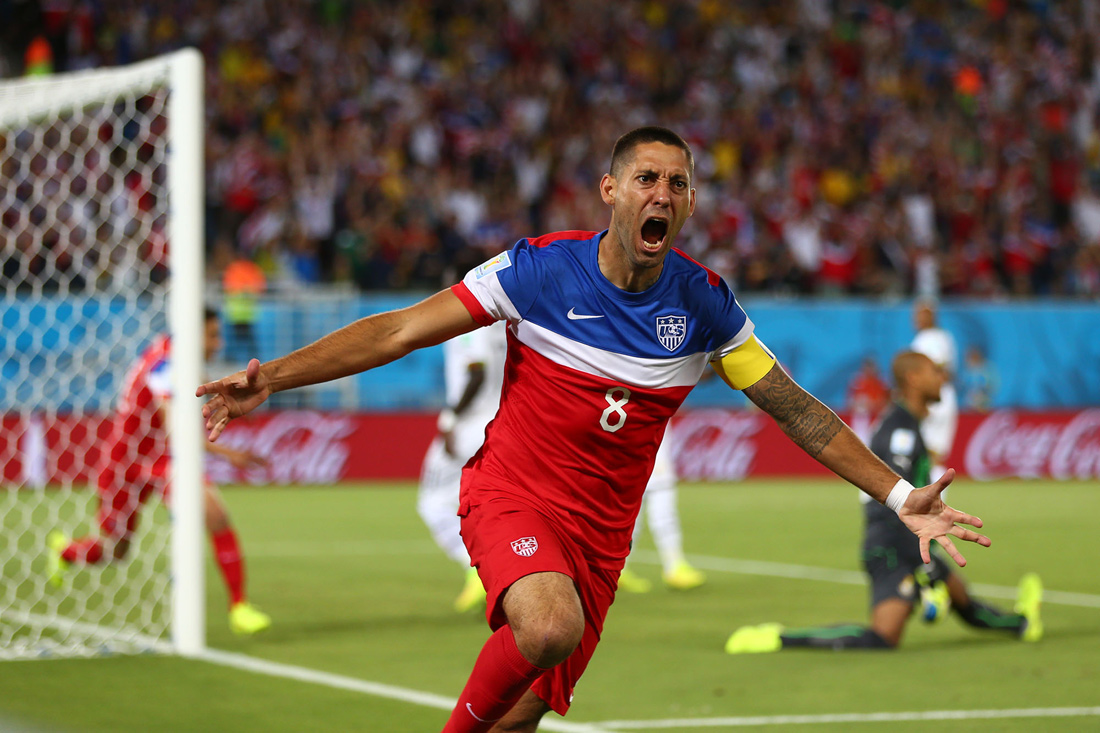 Clint Dempsey goal, USA v Ghana, FIFA World Cup, Natal, Brazil, June 2014