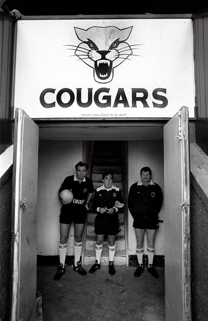Match officials, Keighley Cougars v Dewsbury, Cougar Park, Keighley, March 1992