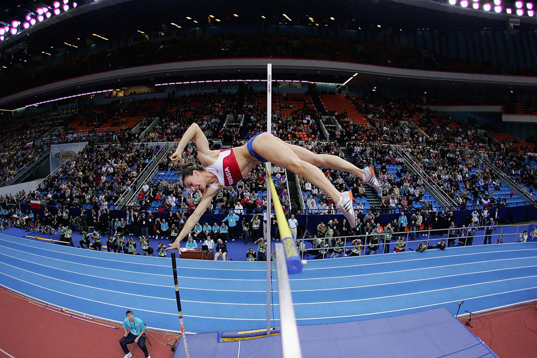 Yelena Isinbayeva of Russia, IAAF World Indoor Championships, Moscow, March 2006