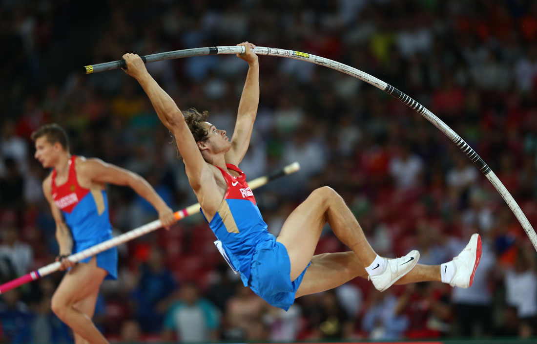 Ivan Gertlein of Russia, Men's Pole Vault, IAAF World Athletics Championships, Beijing, August 2015