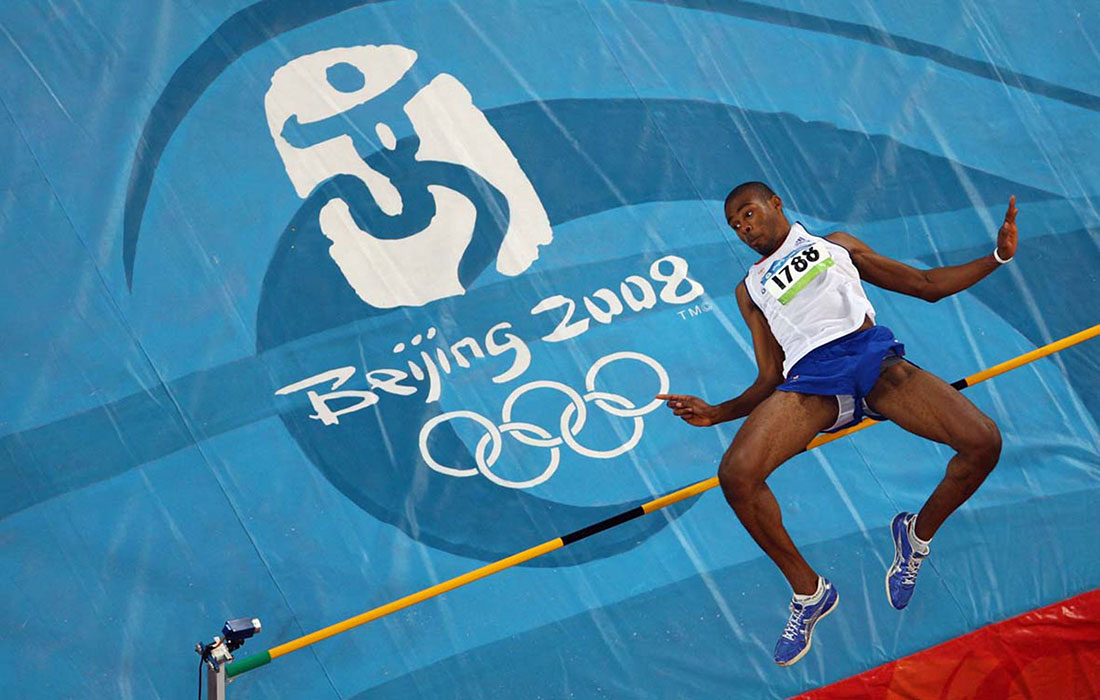 Martyn Bernard, men's high jump qualification, Beijing 2008 Olympics