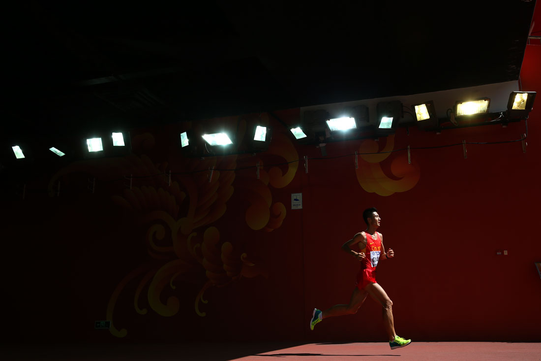 Siyang Guan of China, Men's Marathon, IAAF World Athletics Championships, Beijing, August 2015