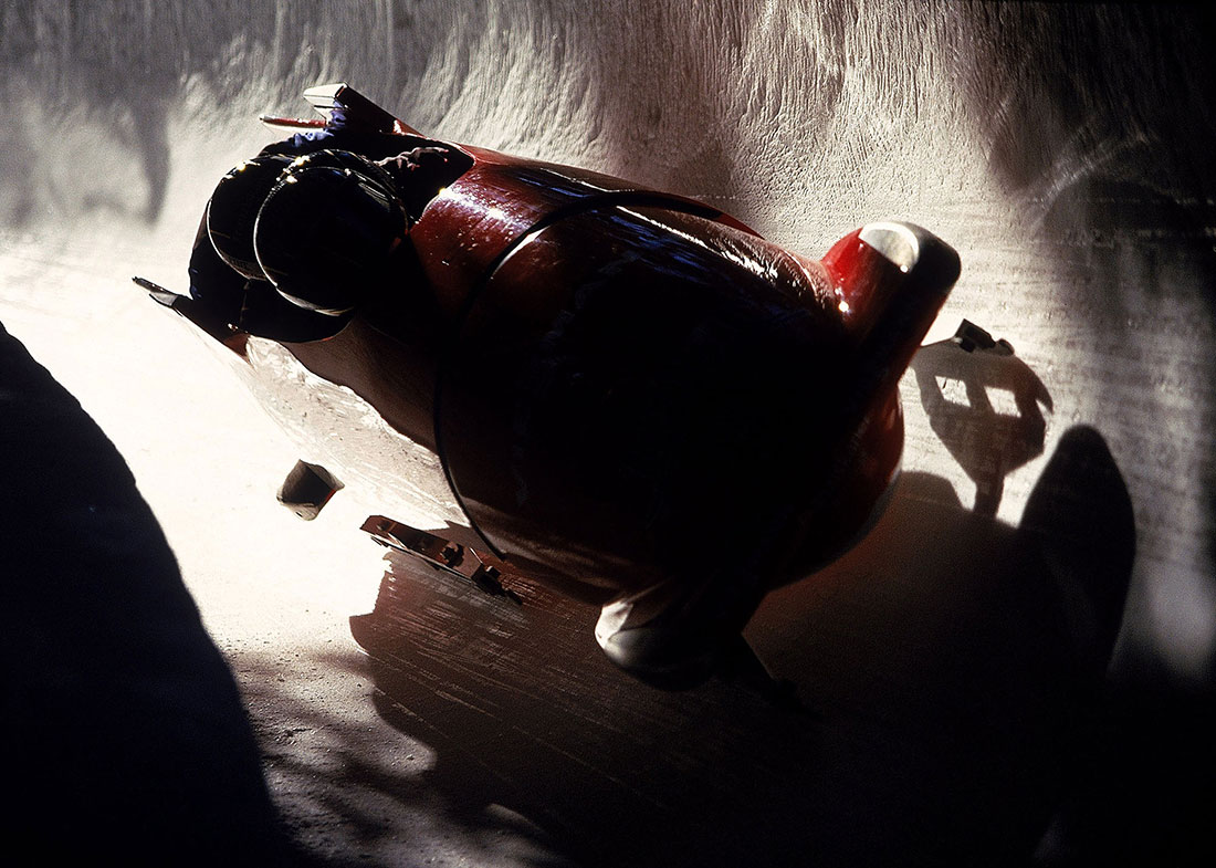 Christof Langen driving Germany 3, Bobsleigh World Championships, St Moritz, Switzerland, February 2001
