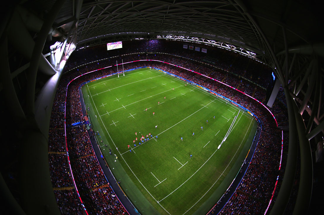 General stadium view, Wales v Uruguay,Rugby World Cup, Millennium Stadium,Cardiff, September 2015
