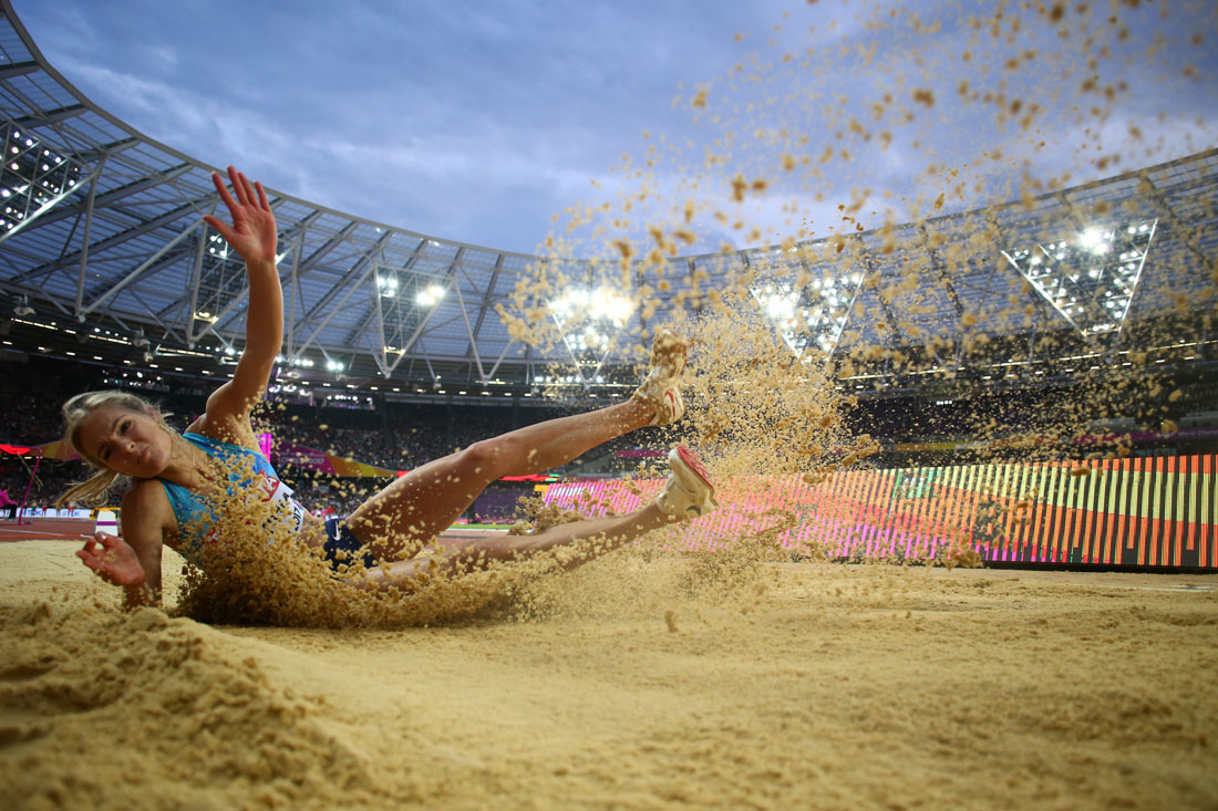 Darya Klishina competes in the women's long jump final, Iaaf World Championships, August 11th 2017