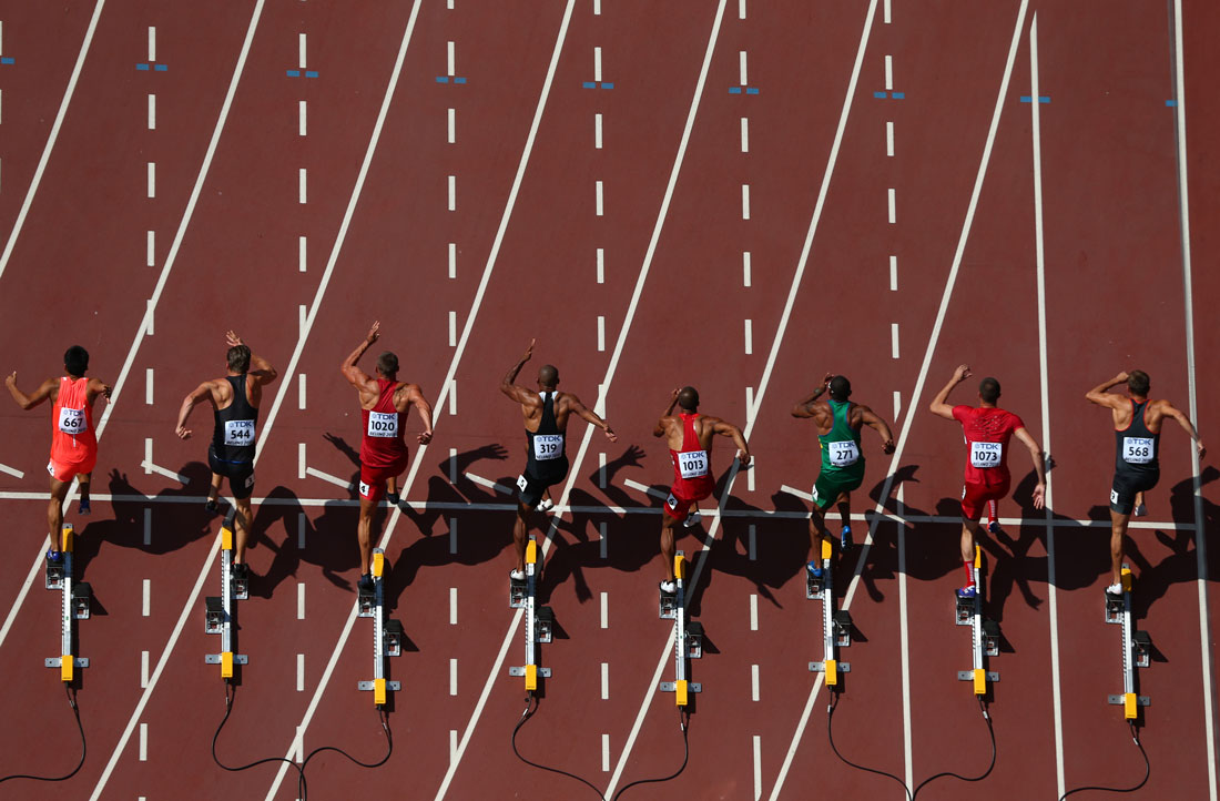 100m heats Men's Decathlon, IAAF World Championships, Beijing, August 2015