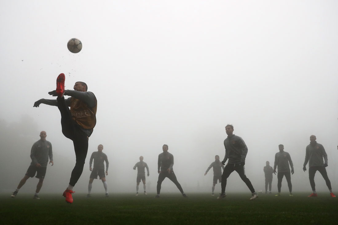 Monaco training in fog, La Turbie, 21 November 2016