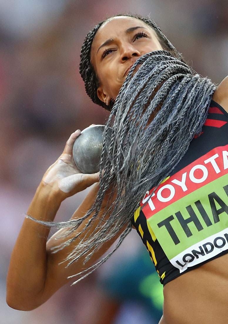 Nafissatou Thiam of Belgium, women's heptathlon, Iaaf World Championships, London, August 4th 2017