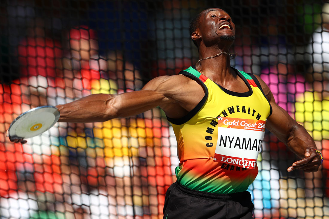 Atsu Nyamadi of Ghana, Men's Decathlon, Gold Coast Commonwealth Games, Australia, April 2018