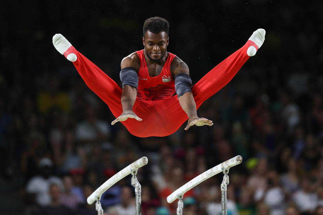 Courtney Tulloch of England on parallel bars, Gold Coast Commonwealth Games, Australia April 2018