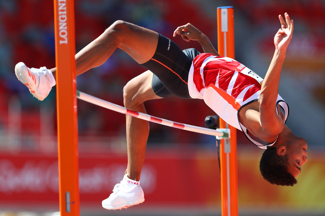 Tom Gale of England, High Jump Qualification, Gold Coast Commonwealth Games, Australia, April 2018