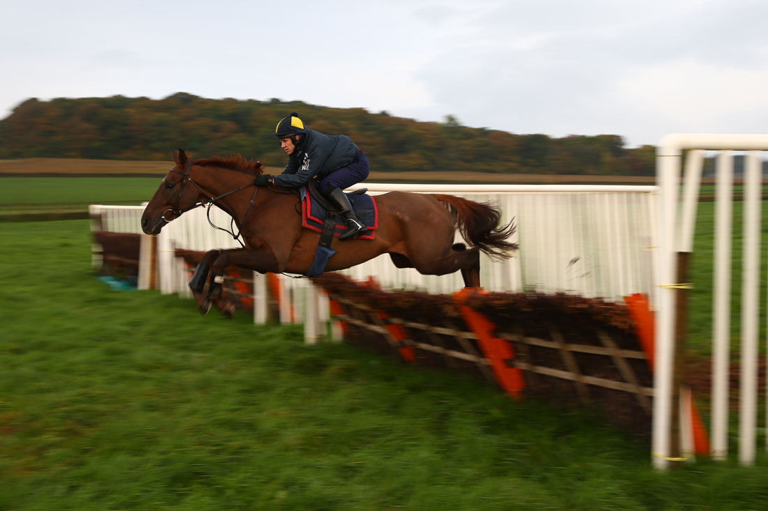 Richard Johnson schooling on Wishfull Dreaming, November 4th 2015