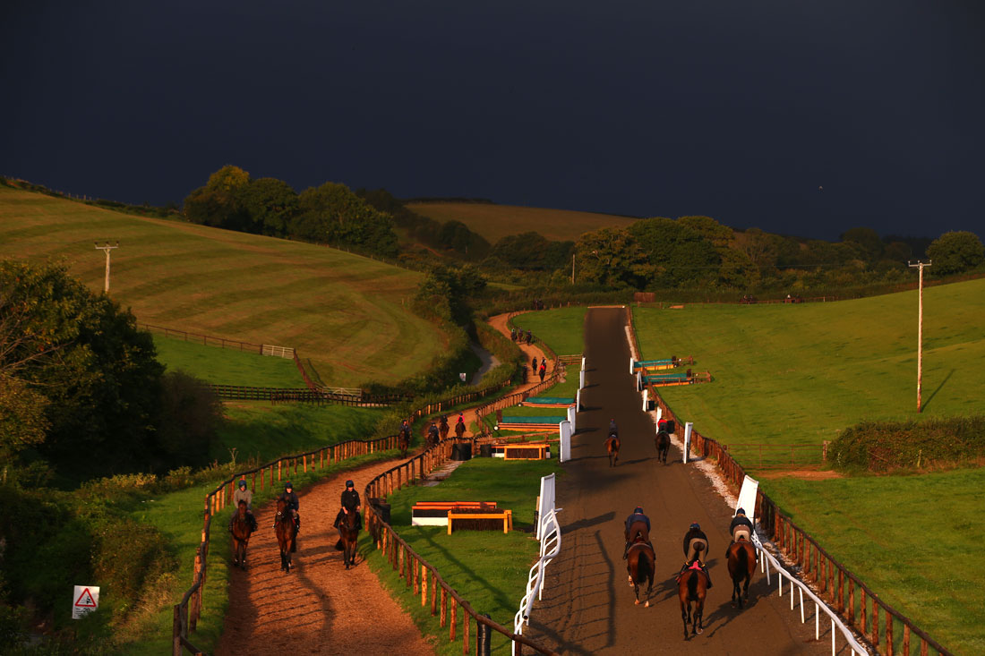 Dark skies on the gallops, September 30th, 2015