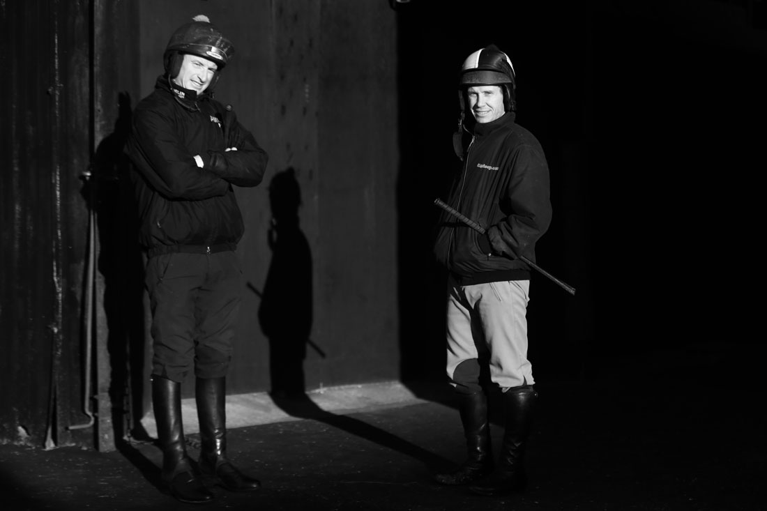 Jockeys Richard Johnson and Tom O'Brien, 20th January 2016