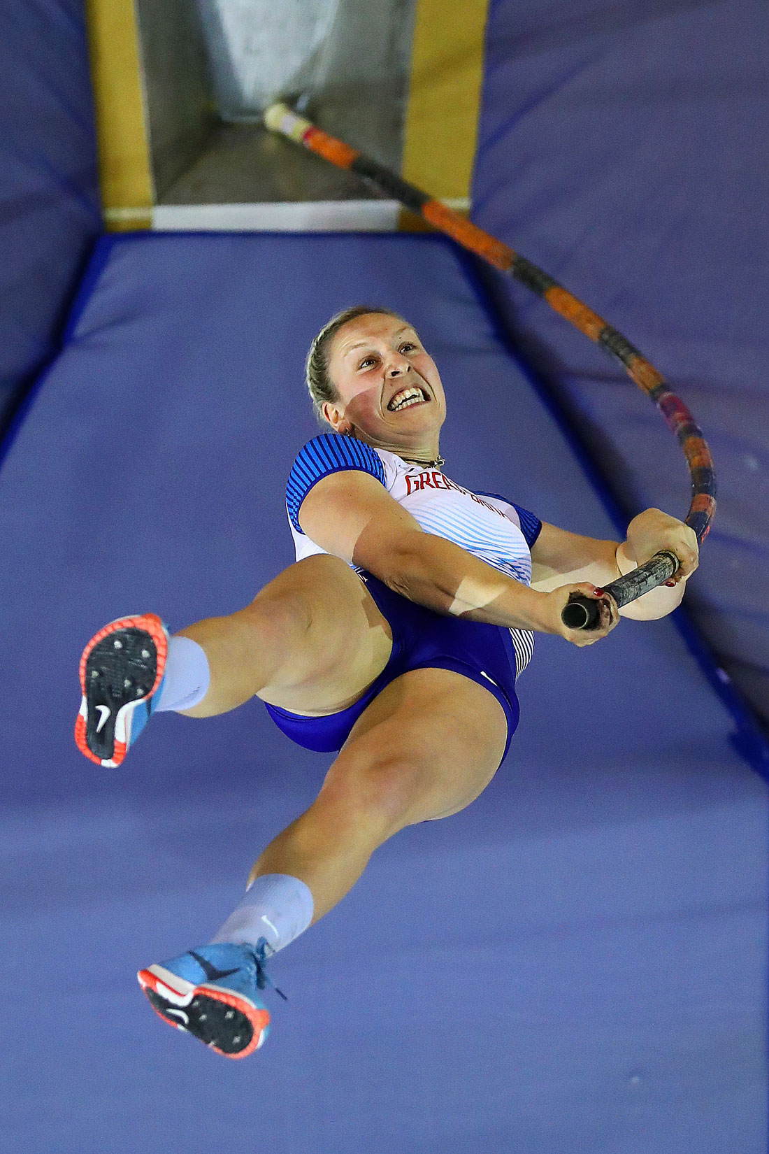 Holly Bradshaw of Great Britain, European Indoor Championships, Glasgow, 3rd March 2019